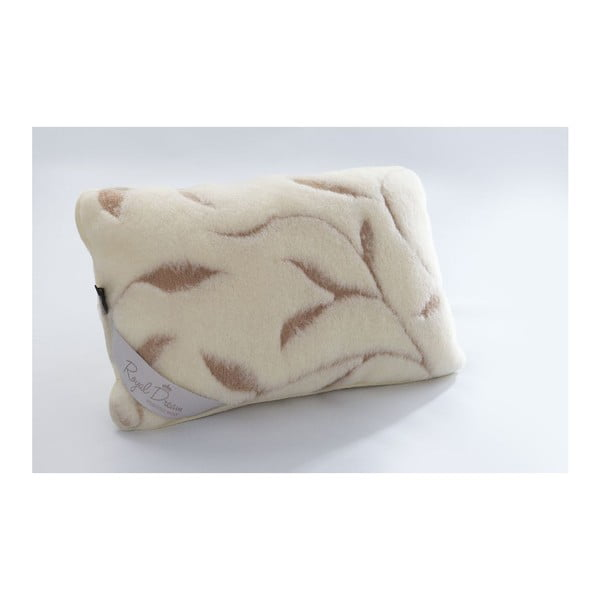 Vlnený vankúš Royal Dream Leaves, 40 x 70 cm