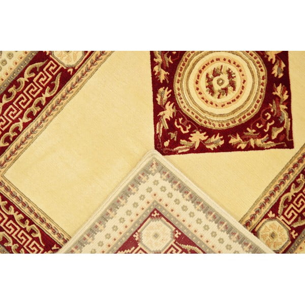 Vlnený koberec Bakero Vanilla/Red, 120x180 cm