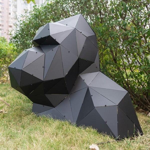 Čierna kovová dekorácia vhodná aj do e×teriéru Geo King Kong XL
