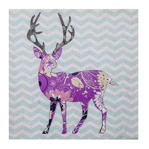 3D obrázok Ewax Purple Reindeer, 40×40cm