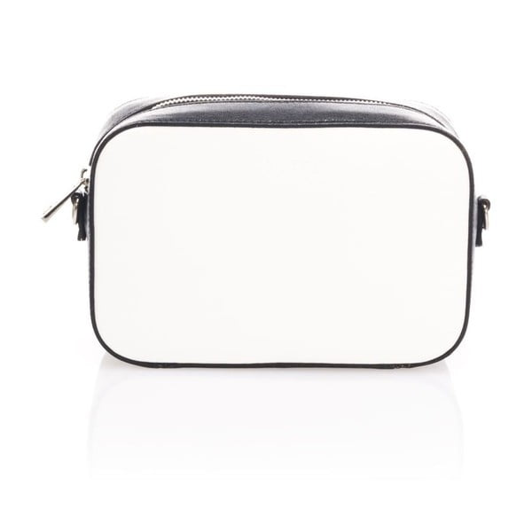Čierno-biela kožená listová kabelka Krole Kath