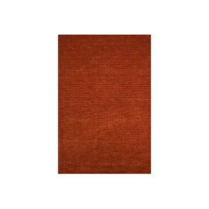 Vlnený koberec Millennium 60x110 cm, tehlovo červený