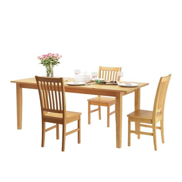 Jedálenský stôl z borovicového masívu Støraa Daisy, 75×120cm