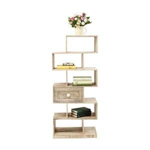 Knižnica z mangového dreva Kare Design Puro Zick Zack