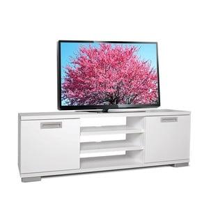 Televízny stolík Nasya, biely