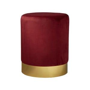 Červená čalúnená stolička Native Mystique, ⌀35 cm