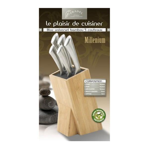 Set 5 nožov a bloku na nože Jean Dubost Milenium Bamboo