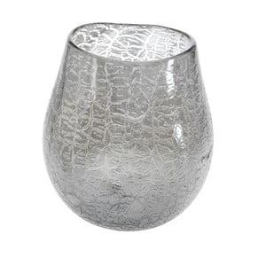 Sklenená váza Dino Bianchi Catanzaro, výška 26 cm