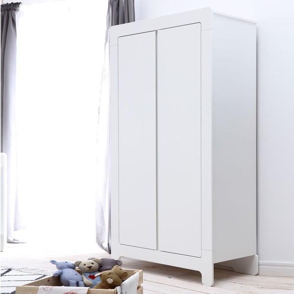 Biela šatníková skriňa Pinio Moon,185×100cm