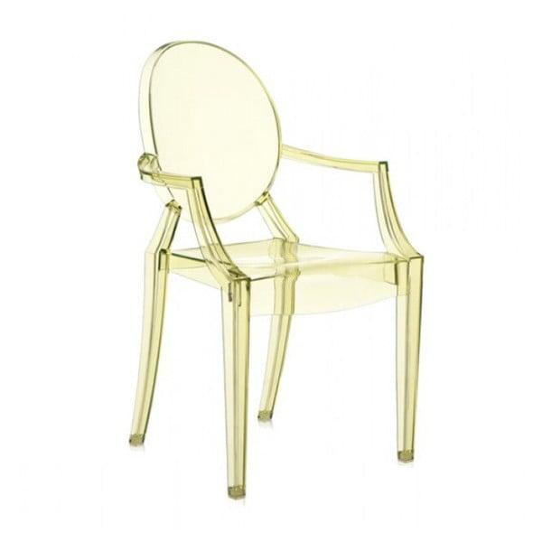 Plastová stolička Kartell Louis Ghost, svetložltá