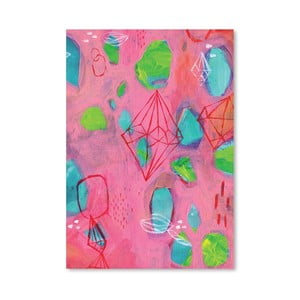 Plagát Geometry Pink, 30x42 cm
