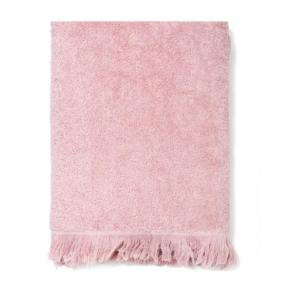 Sada 2 ružových bavlnených osušiek Casa Di Bassi Bath, 70x140cm