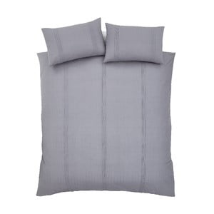 Sivé obliečky na dvojlôžko Catherine Lansfield, 220×230 cm
