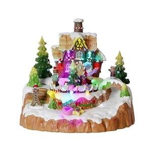Svietiaca dekorácia Gingerbread House