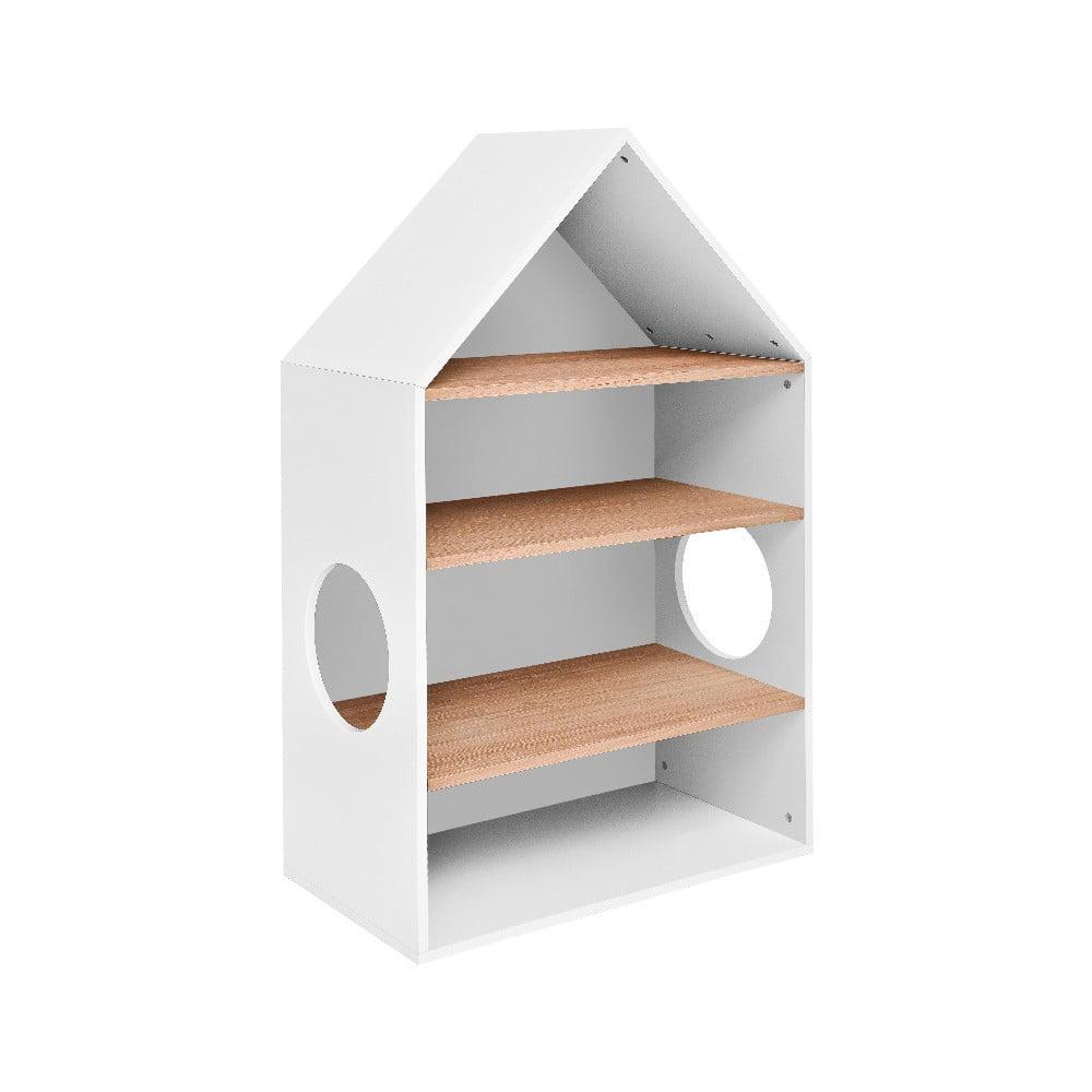 Biela knižnica v tvare domčeka BELLAMY Lotta