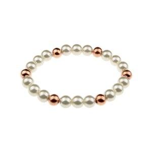 Dámsky perlový antikoro náramok vo farbe ružového zlata Victoria Wall Fiana
