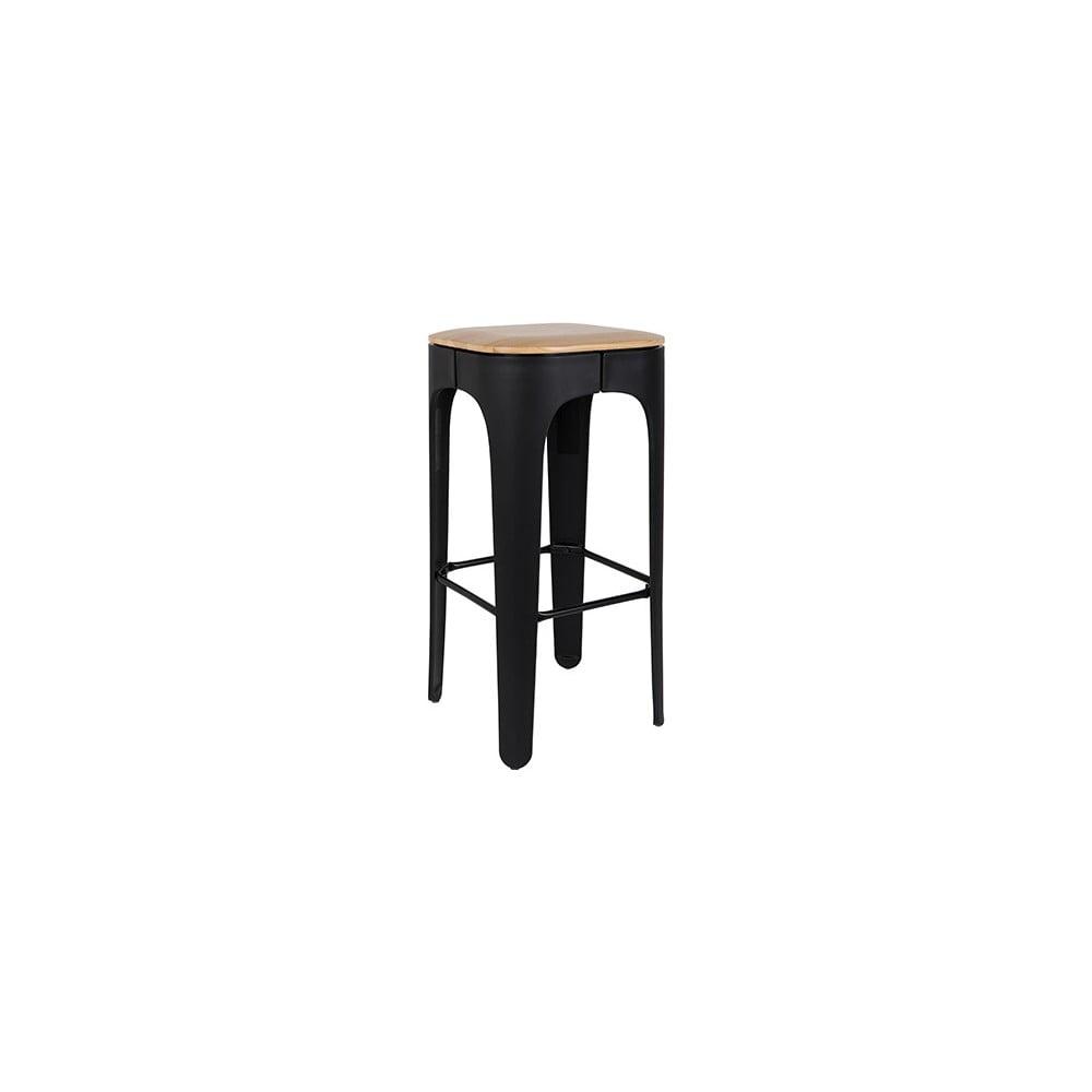 Čierna barová stolička White Label Up-High