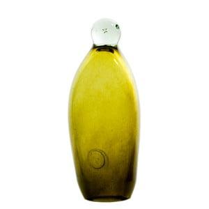 Sklenený tučniak 20-23 cm, olivový