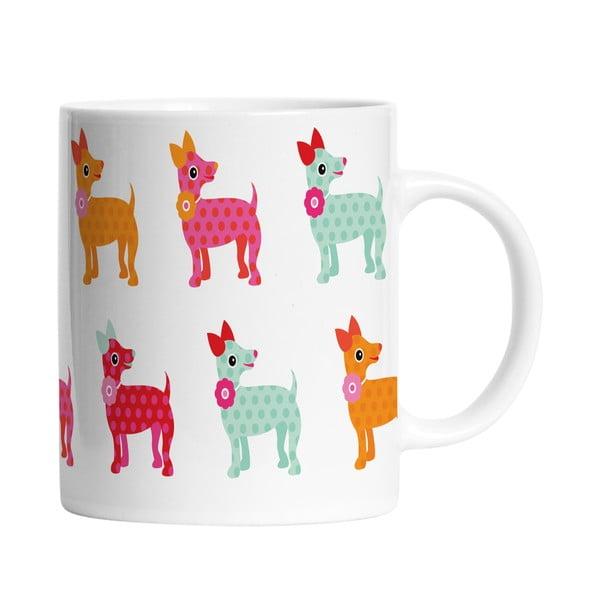 Keramický hrnček Dogs in Colours, 330 ml