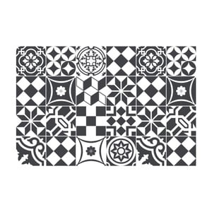Sada 24 samolepiek Ambiance Mosaic Black and White