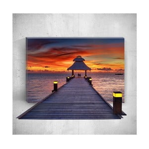 Nástenný 3D obraz Mosticx Sunset Dock, 40×60 cm