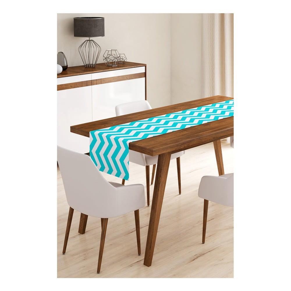 Behúň na stôl z mikrovlákna Minimalist Cushion Covers Blue Stripes, 45 × 145 cm