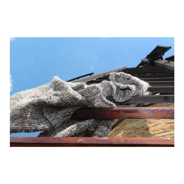 Pletený pléd Catness, hnedý, 120x170 cm
