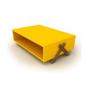 Žltý konferenčný stolík Rafevi Kipp