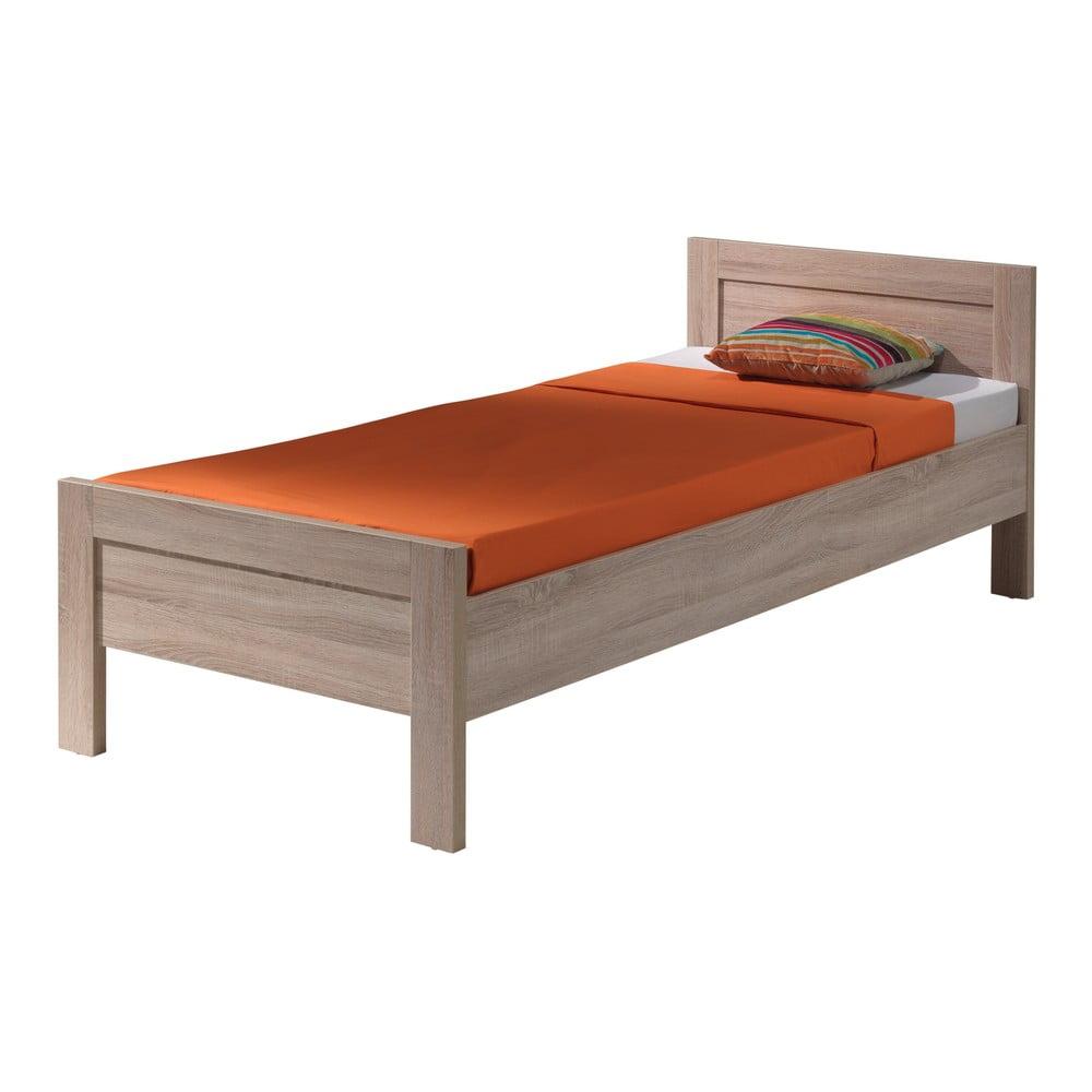 Hnedá posteľ Vipack Aline, 90 × 200 cm