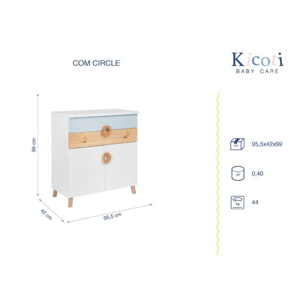 Modro-biela komoda KICOTI Circle