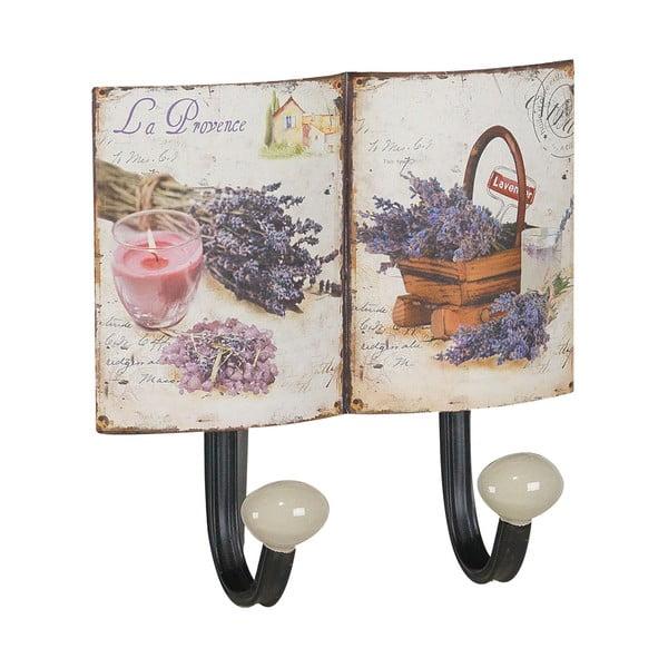 Sada 2 kovových vešiakov Lavender