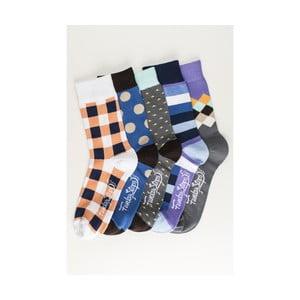 Sada 5 párov unisex ponožiek Funky Steps Osten, veľkosť 39/45