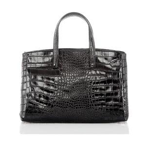 Čierna kožená kabelka Glorious Black Nathalia