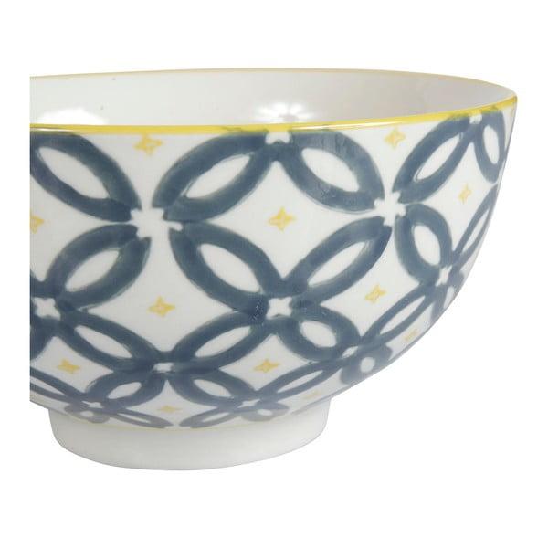 Sada 4 porcelánových misiek Flower, 15 cm