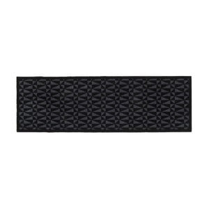 Čierno-sivá rohožka Tica Copenhagen Graphic, 67 x 200 cm