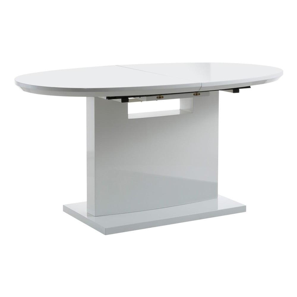 Biely rozkladací jedálenský stôl Støraa Courtney, 160 x 90 cm