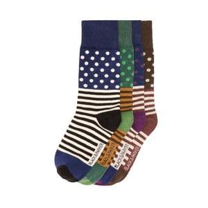 Sada 4 párov vysokých unisex ponožiek Black&Parker London Payton, veľkosť 37/43