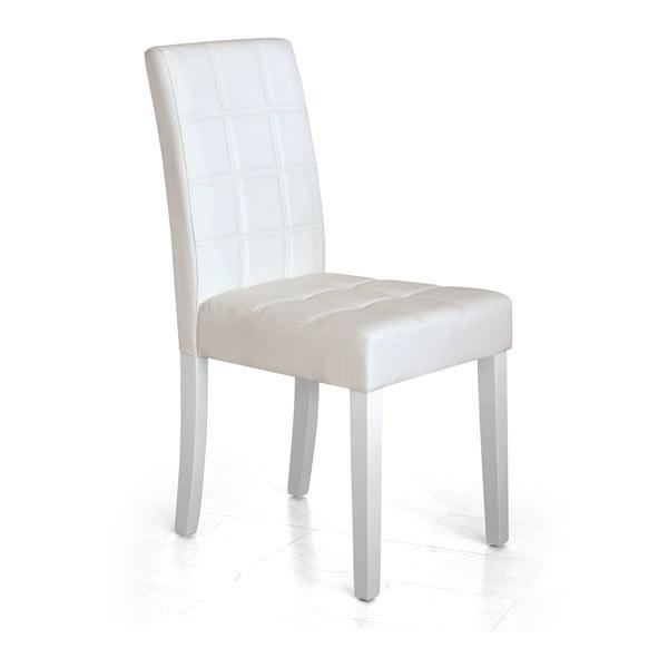 Jedálenská stolička Yari, biela