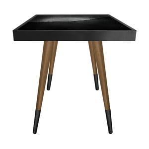 Príručný stolík Caresso Perforated Metal Square, 45 × 45 cm