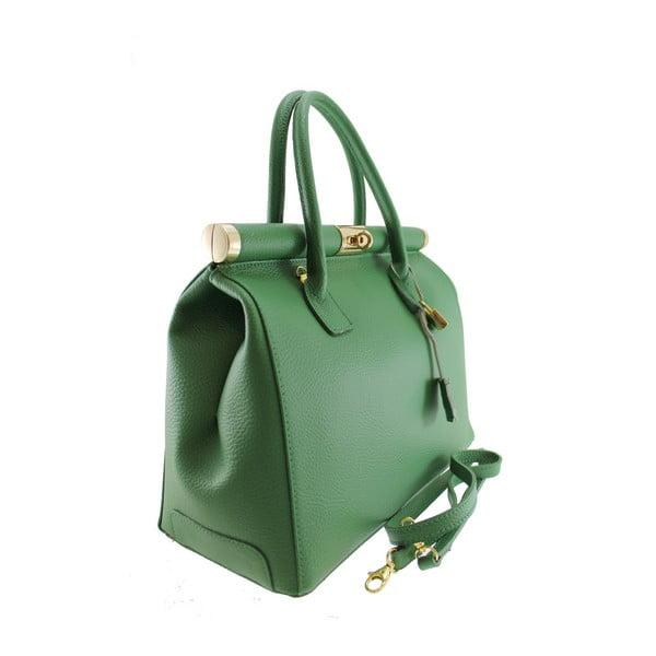 Zelená kožená taška Blair