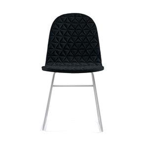 Čierna stolička s kovovými nohami IKER Mannequin V Triangle
