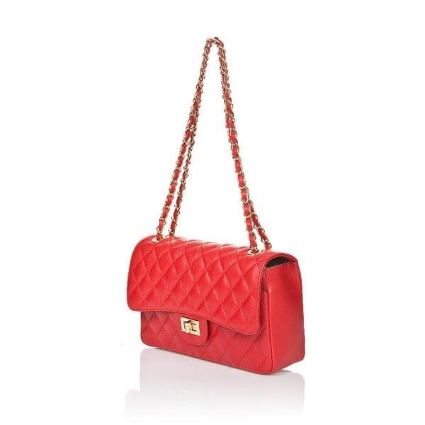 Kožená kabelka Markese 6999 Red