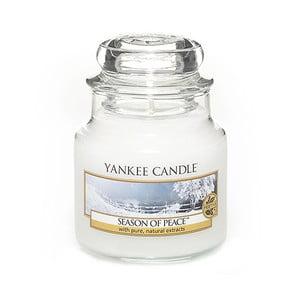 Vonná sviečka Yankee Candle Zimné Harmónia, doba horenia 25 - 40 hodín