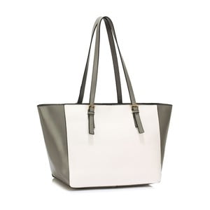 Bielo-sivá kabelka L & S Bags Dorna