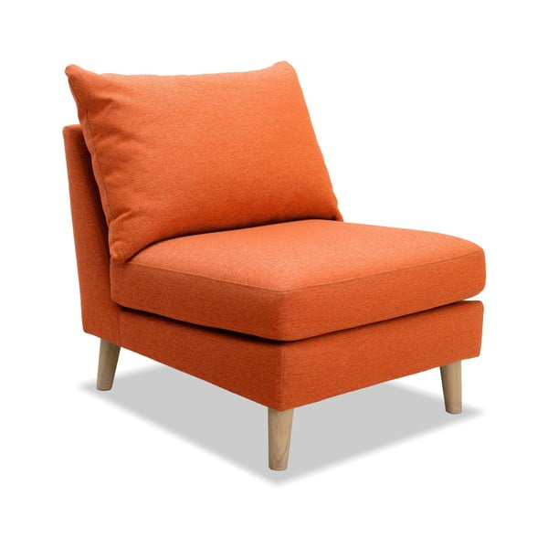 Oranžové kreslo Vivonita Liam