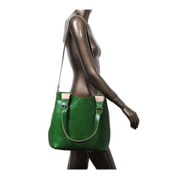 Zelená kabelka z pravej kože Andrea Cardone Stefano