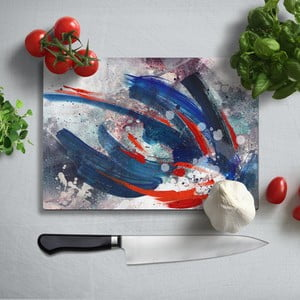 Farebná doska na krájanie z tvrdeného skla Insigne Varso, 35 × 25 cm