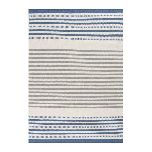 Ručne tkaný vlnený koberec Story Sky, 200x300cm