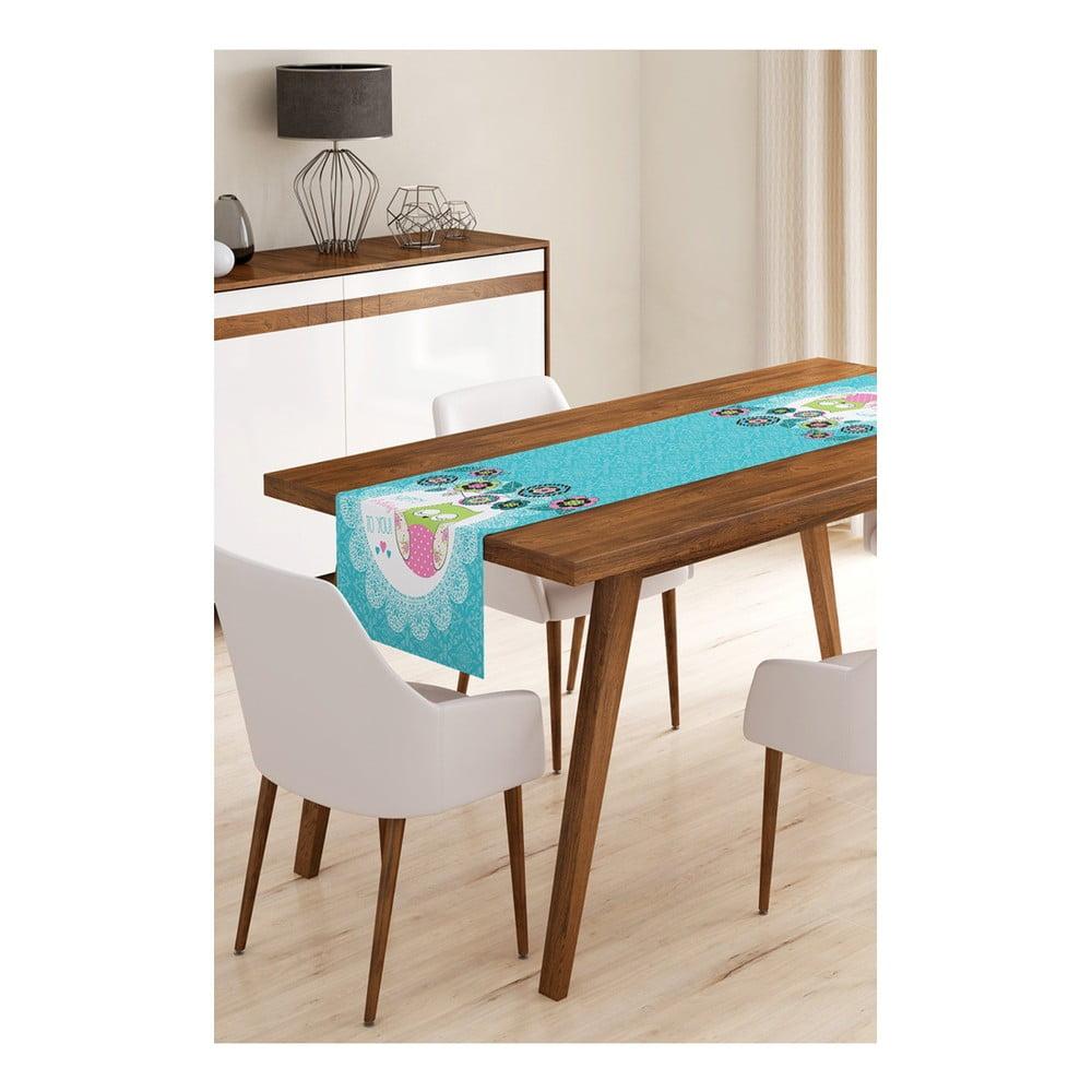 Behúň na stôl z mikrovlákna Minimalist Cushion Covers Blue Owl, 45 × 145 cm