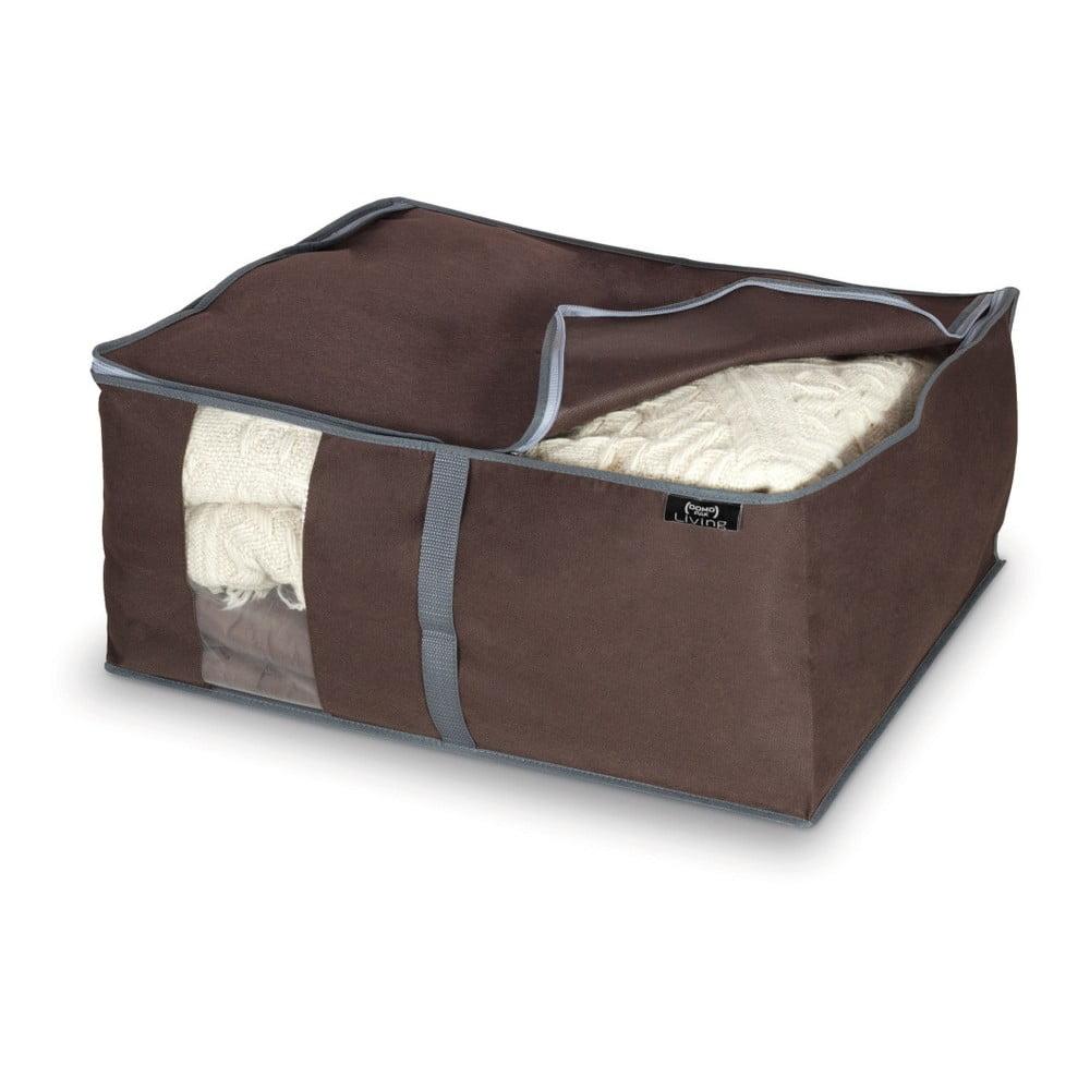Hnedý úložný box na paplóny Domopak Living, 25 × 45 cm